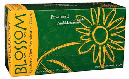 Blossom Vinyl Powdered Exam Glove $5.50 (per box)