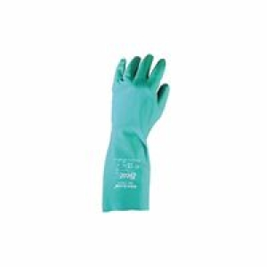 Green Nitrile Flocked lined 15mil $17.4 (doz.)