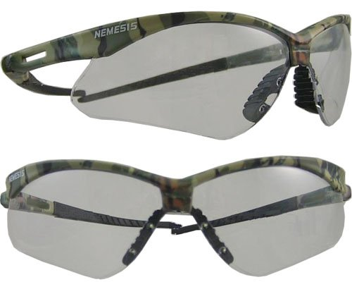 Nemisis Camouflage Safety Glasses With Gray Anti-Fog Lenses $4.87